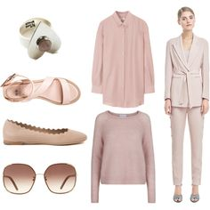 Milkshake pink by challii on Polyvore featuring Chloé, even&odd and Filippa K