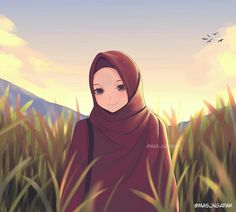 The actual scarf is the most important portion from the apparel of females using hijab. Iran Pictures, Hijab Drawing, Islamic Cartoon, Anime Muslim, Hijab Cartoon, Islamic Girl, Muslim Girls, Muslim Women, Kawaii