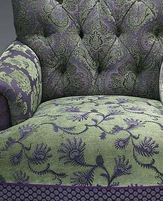 """Middlebury Chair Lavender/Green""  Upholstered Chair"