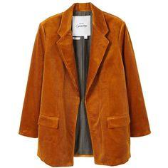 MANGO Corduroy blazer (4.780 RUB) ❤ liked on Polyvore featuring outerwear, jackets, blazers, coats, mango blazer, button jacket, corduroy blazer, cordoroy jacket and corduroy jacket