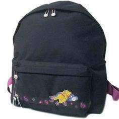 Disney Winnie the Pooh Girls Womens Ladies Black Backpack Rucksack School Bag Rucksack Backpack, Black Backpack, Disney Winnie The Pooh, School Bags, Gucci, Backpacks, Wallet, Lady, Girls