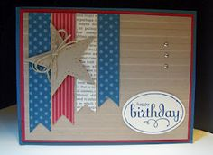 beginning to love banner/flag cards! by Pam Brandes via Bear Hugs and Inky Paws