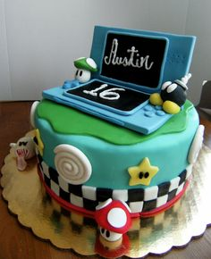 nintendo cakes   nintendo ds another in the series of nintendo mario cakes yes i do ...