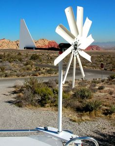 The Windwalker wind generator system by Free Spirit Energy can be mounted on your camper's roof or ladder. - Page 2 Solar Power Facts, Solar Power System, Solar Panel Installation, Solar Panels, Vw T3 Syncro, Solar Powered Lamp, Solar Heater, Advantages Of Solar Energy, Diy Solar