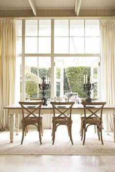 Country French Dining Table and chairs