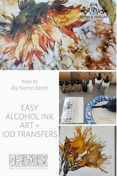 Unique Wall Art, Diy Wall Art, Diy Art, Alcohol Ink Painting, Alcohol Ink Art, Painted Wooden Boxes, Diy Leather Earrings, Iron Orchid Designs, Painting Tips