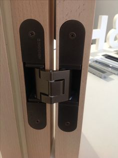 THE ORIGINAL HINGES The best hinges in the world! SIMONSWERK TECTUS HINGES Only 2 hinges can carry up to 200 kilos of weight...simply gorgeous! Available at #hallidaybaillie.com