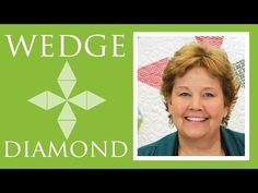 "Another great tutorial!! Wedge Diamond Quilt: Easy Quilting Tutorial with Jenny Doan of Missouri Star Quilt Co. MSQC's Jenny teaches us how to make a 62"" x 62"" Wedge Diamond Quilt using the Daysail Layer Cake, yardage, and the Large Simple Wedge Layer Cake Template."
