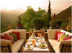 Exotic terrace in Morocco