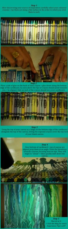Cute artwork on pinterest abstract art family trees and for How to make a melted crayon art canvas