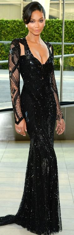 Black Long Sleeve Evening Dresses