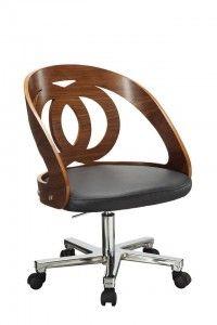 Voor iedereen die van een strakke, moderne en elegante look houdt, deze Jual Furnishings Alair Bureaustoel Walnoot, nu met bijna €50,- korting! #huis #wonen #inspiratie #interieur #design #inrichting #meublen #stoel #bureaustoel #kantoor #modern #uitverkoop #sale