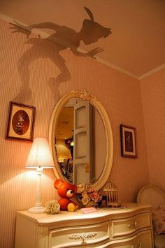 Wall-Tattoo Peter Pan This would be awesome.