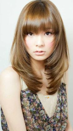 Layered Hairstyles With Bangs Magnificent Top 8 Layered Haircuts With Bangs  Pinterest  High Forehead Bangs