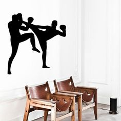 Wall Decals Box Boxing Two Guys Boys Fighter by DecalMyHappyShop