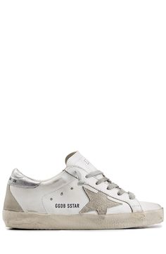 GOLDEN GOOSE Super Star Suede And Leather Sneakers. #goldengoose #shoes #sneakers
