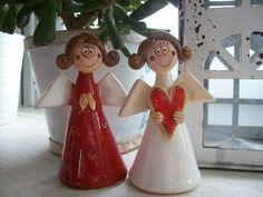 Clay Angel, Pottery Angels, Elf 2, Christmas Clay, Angel Decor, Clay Crafts, Hobbit, Ceramic Pottery, Wedding Decorations