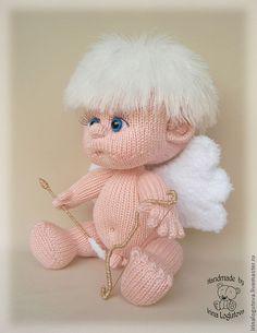 Купить Вязаная игрушка Амурчик - вязаная игрушка, пупс, ангел, подарок, оригинальный подарок, белый