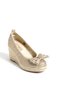 Michael Kors Little Girls Wedge. If only Izzy was one shoe size bigger.