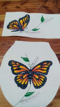 ♡ One Stroke Painting, Dot Painting, Fabric Painting, Butterfly Quilt, Butterfly Art, Tole Painting Patterns, Mosaic Patterns, Wood Canvas, Drawing For Kids