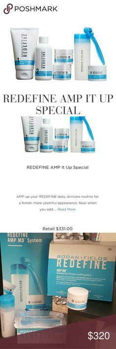 2 Rodan Fields Kits TOGETHER Mega Wrinkle Defence Reg price $393.00. R&F is offering -20%  to consultants=$331 (2nd photo) I am offering it to you, PLUS a little more savings. The AMP MD Roller utilizes micro-exfoliation technology for visibly advanced skin-firming benefits. Based on clinical studies of our REDEFINE Regimen AND the AMP MD System, smoother-looking, softer skin can be experienced after just one use. With continued use, the REDEFINE Regimen and the AMP MD System are clinically…