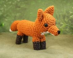 ***Please note that I sell crochet patterns, emailed to you as PDF files, NOT completed items!*** An original crochet amigurumi Red Fox pattern by Crochet Amigurumi, Crochet Fox, Crochet Animals, Free Crochet, Little Prince Fox, Amigurumi For Beginners, Fantastic Mr Fox, Fox Pattern, Crochet Instructions