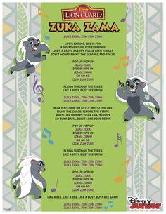 Zuka Zama lyrics Lion Party, Lion King Party, Animal Themed Birthday Party, 4th Birthday Parties, Birthday Ideas, Disney Junior, Disney Jr, The Lion King Characters, King Birthday