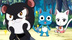 Anime/manga: Fairy Tail Characters: (Panther) Lily, Happy, and Carla