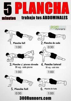Plancha: trabaja tus Abdominales 5 minutos http://www.deporteynutricion.com/