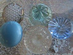 Vintage Buttons  Sweet lot 5 shades of blue and by pillowtalkswf, $5.75