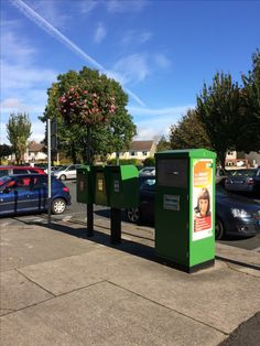 Irish post boxes and parcel box in Churchtown Dublin