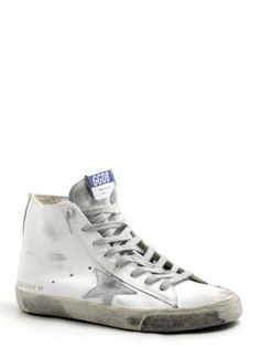 Golden Goose-man-sneakers francy-white silver leather-Golden Goose 2014