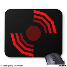 red octagon mouse pad