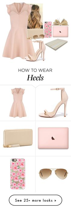"""""""Work"""" by hannahmcpherson12 on Polyvore featuring Sandro, Casetify, Liliana, Ray-Ban and NOVICA"""