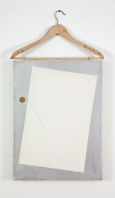 John Armleder - Coat Hanger with Painting, 1984. Technical : Coat Hanger, Acrylic on Canvas,Pencil on Canvas.87.63 x 48.26 cm. Edition of 60.