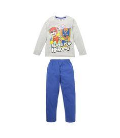 JUNGEN PYJAMA von PAW PATROL Sweat-Shirt LANGARM und langer Hose Schlaf-Anzug