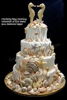 Shells & such are handpainted white chocolate