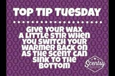 Tip Tuesday! #scentsy #consultant #tips https://staceyannrobinson.scentsy.us/