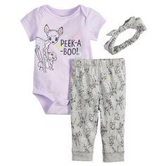 d61143425 Disney's Bambi Baby Girl Bodysuit, Leggings & Headband Set by Jumping Beans®