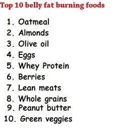 Top 10 belly fat burning foods health-fitness