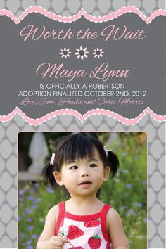Adoption announcement!--  hehe, already has our last name on it  ;-)