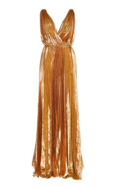 Reva Pleated Gown by MARIA LUCIA HOHAN for Preorder on Moda Operandi