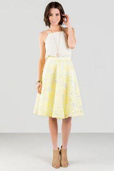 Mariella Floral Midi Skirt