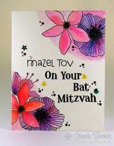 Stempel Spass, Bat Mitzvah card