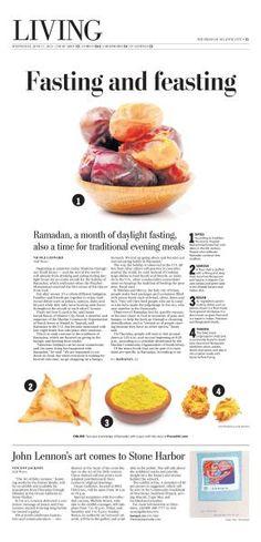 Ramadan Food Feature #Newspaper #Design #Layout #GraphicDesign