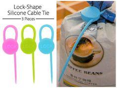 Lock Shape Silicone Cable Tie | Multi City | TCAT | 1197239 | Dealshelve من متجر برافو