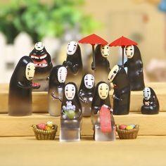 Set of 13 Kaonashi Spirited Away No Face  カオナシ Studio Ghibi Doll Toy Figure Lot