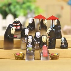 Set of 13 Kaonashi Spirited Away No Face  カオナシ Studio Ghibi Doll Toy Figure Lot