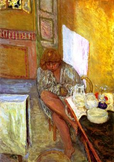 Woman in a Dressing Gown / Pierre Bonnard - 1914