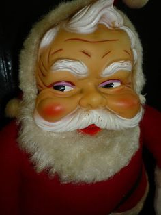 Vintage The Rushton Co Stuffed Toy Santa Claus Rubber Face Boots Doll Old | eBay